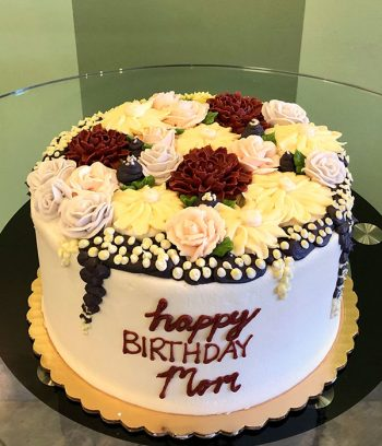 Assorted Flower Layer Cake - Front