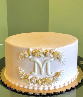 Monogram Layer Cake - Blush Ivory