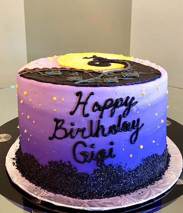 Peachy Nightmare Before Christmas Layer Cake Classy Girl Cupcakes Personalised Birthday Cards Paralily Jamesorg