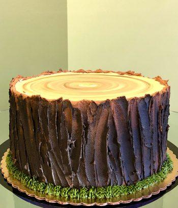 Tree Stump Layer Cake