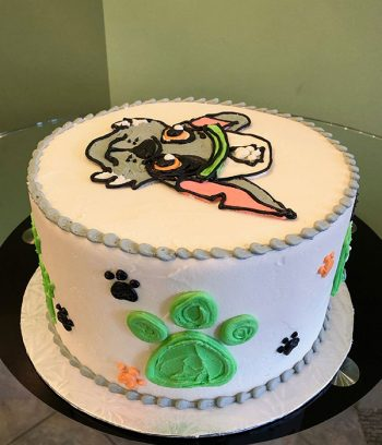 Paw Patrol Character Layer Cake, Rocky - Side