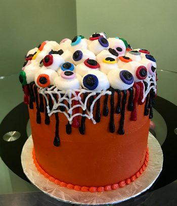 Zombie Eyeball Layer Cake - Side