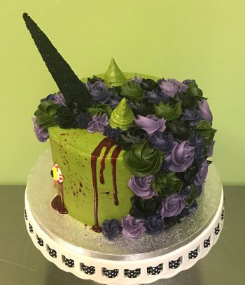 Zombie Unicorn Layer Cake - Back