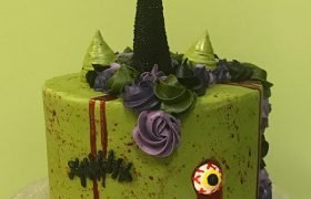 Zombie Unicorn Layer Cake
