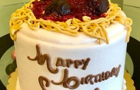 Spaghetti & Meatballs Layer Cake