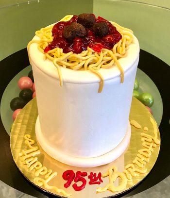 Spaghetti & Meatballs Layer Cake - 4 Inch