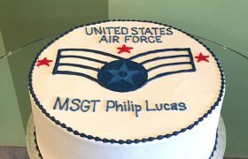Air Force Logo Layer Cake