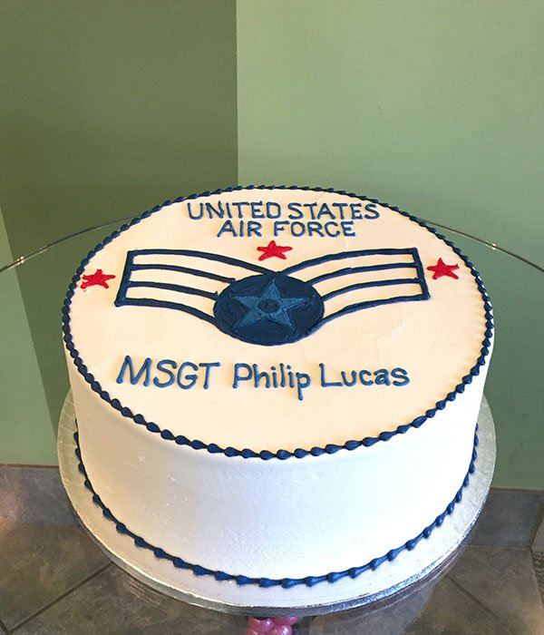 Air Force Logo Layer Cake