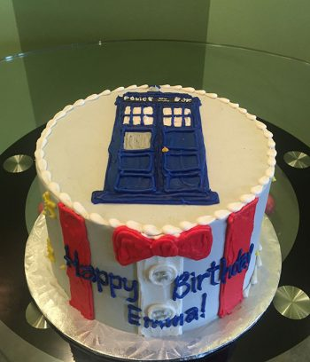 Doctor Who Layer Cake - Top