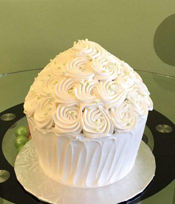 Giant Cupcake Rosette Cake - White
