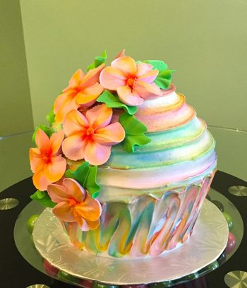 Giant Cupcake Tropical Cake