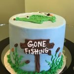 Gone Fishing Layer Cake