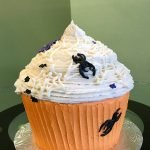 Halloween Spiderweb Giant Cupcake Cake