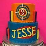 Nerf Gun Tiered Cake