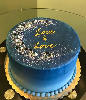 Stardust Layer Cake - Navy Blue