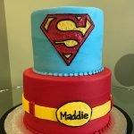 Superman Tiered Cake