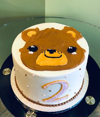 Teddy Bear Layer Cake - Top