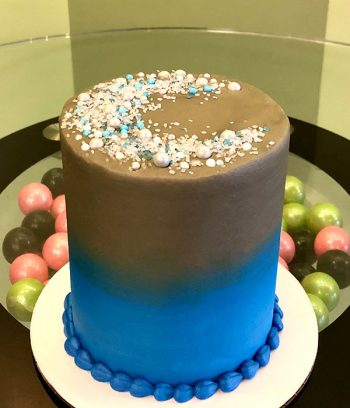 Stardust Layer Cake - Blue & Gold