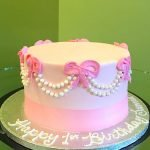 Pearl Bow Layer Cake - Pink