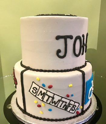 Retirement Tiered Cake - Medicine