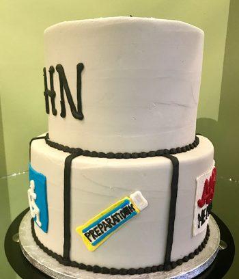 Retirement Tiered Cake - AARP