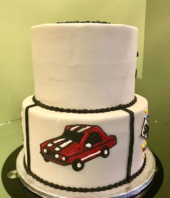 Retirement Tiered Cake - Ambulance