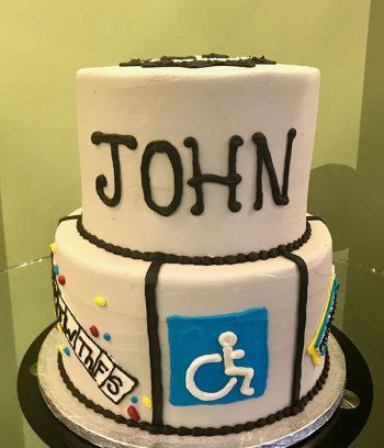 Retirement Tiered Cake