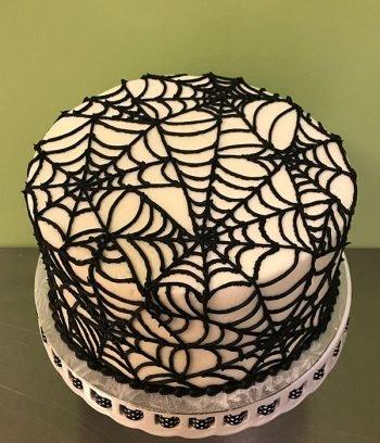 Spiderweb Layer Cake - Top