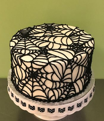 Spiderweb Layer Cake