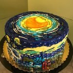 Starry Night Layer Cake - Top