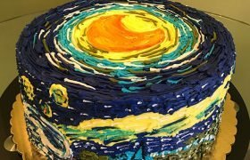Starry Night Layer Cake - Top