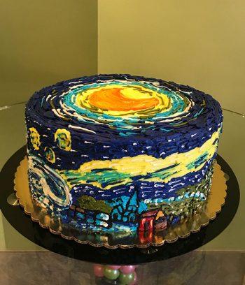 Starry Night Layer Cake - Side