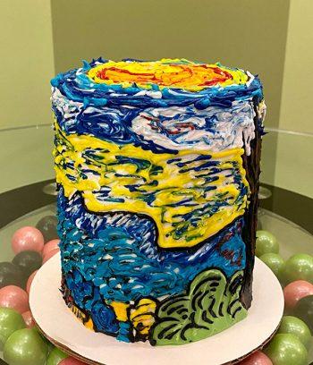 Starry Night Layer Cake - 4 Inch