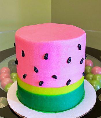 Watermelon Ombre Layer Cake