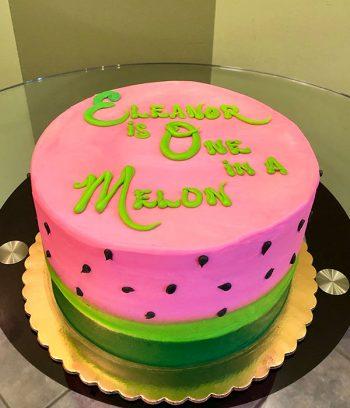 Watermelon Layer Cake - Top