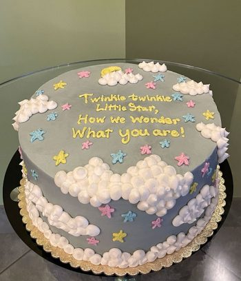 Twinkle Little Star Gender Reveal Layer Cake
