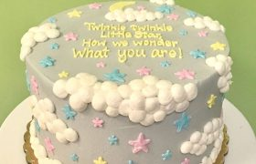 Twinkle Little Star Gender Reveal Layer Cake