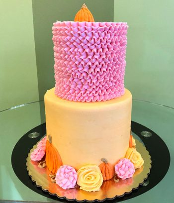 Pumpkin Patch Tiered Cake - Back