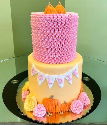 Pumpkin Patch Tiered Cake - Front