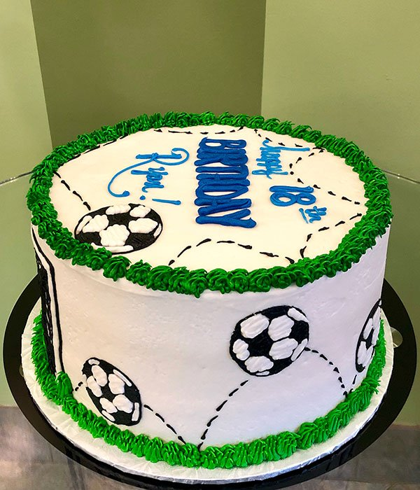 Amazing Soccer Layer Cake Classy Girl Cupcakes Personalised Birthday Cards Paralily Jamesorg