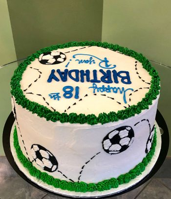 Soccer Layer Cake - Side