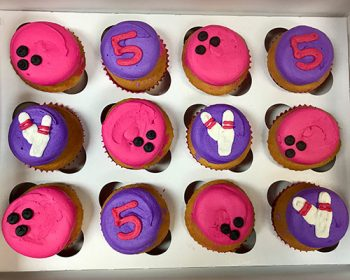Bowling Cupcakes - Pink & Purple