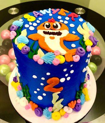 Baby Shark Layer Cake - 4 Inch