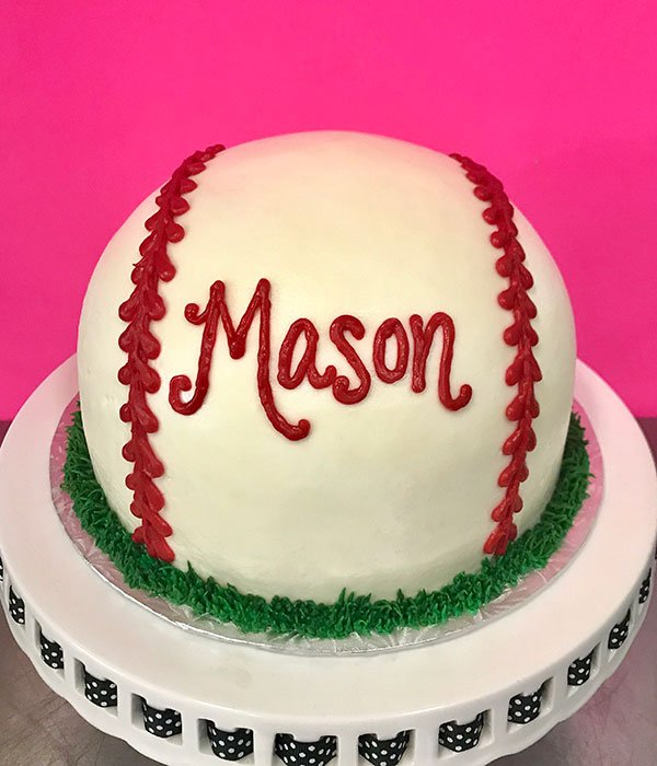 Baseball Shaped Cake