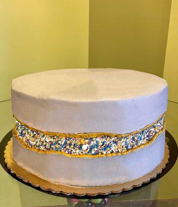 Fault Line Layer Cake - Grey