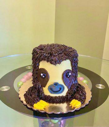 Sloth Layer Cake - 4 Inch