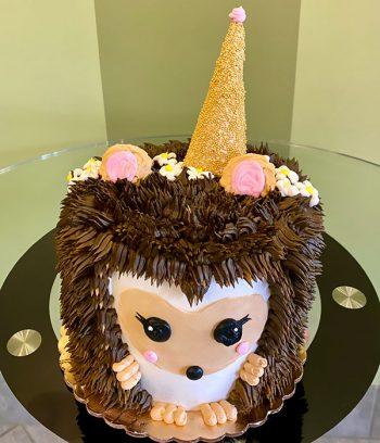 Hedgehog Layer Cake - Top