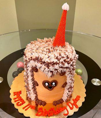 Hedgehog Layer Cake - Orange
