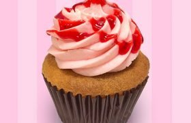 Strawberry Vanilla Cupcake
