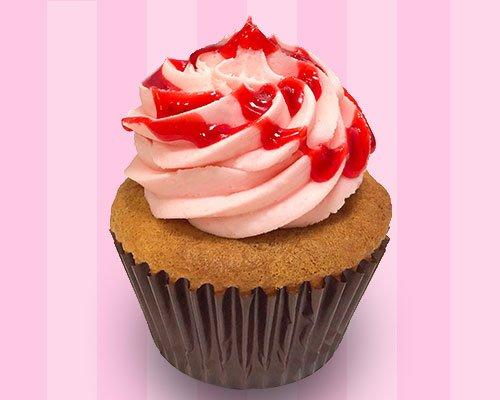 Strawberry Vanilla Cupcake